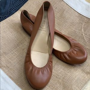 J. Crew Cece Italian Leather Ballet Flat 8